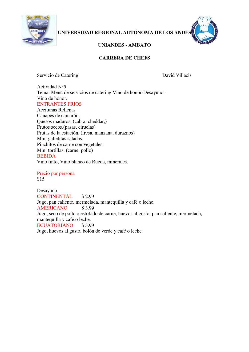 Actividad 5 diagrama de flujo y ejemplos de menus vino de honor actividad 5 diagrama de flujo y ejemplos de menus vino de honor desayuno by david villacis issuu ccuart Gallery