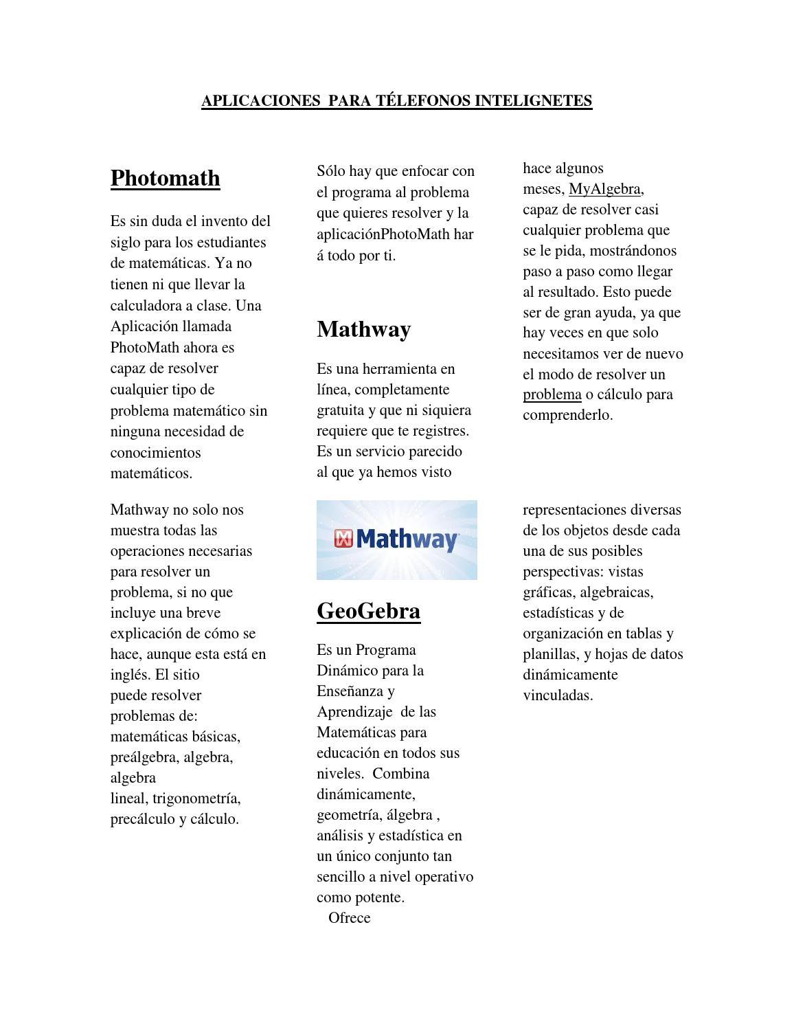 Aplicaciones para télefonos intelignetes by Leticia Alvarez ... on