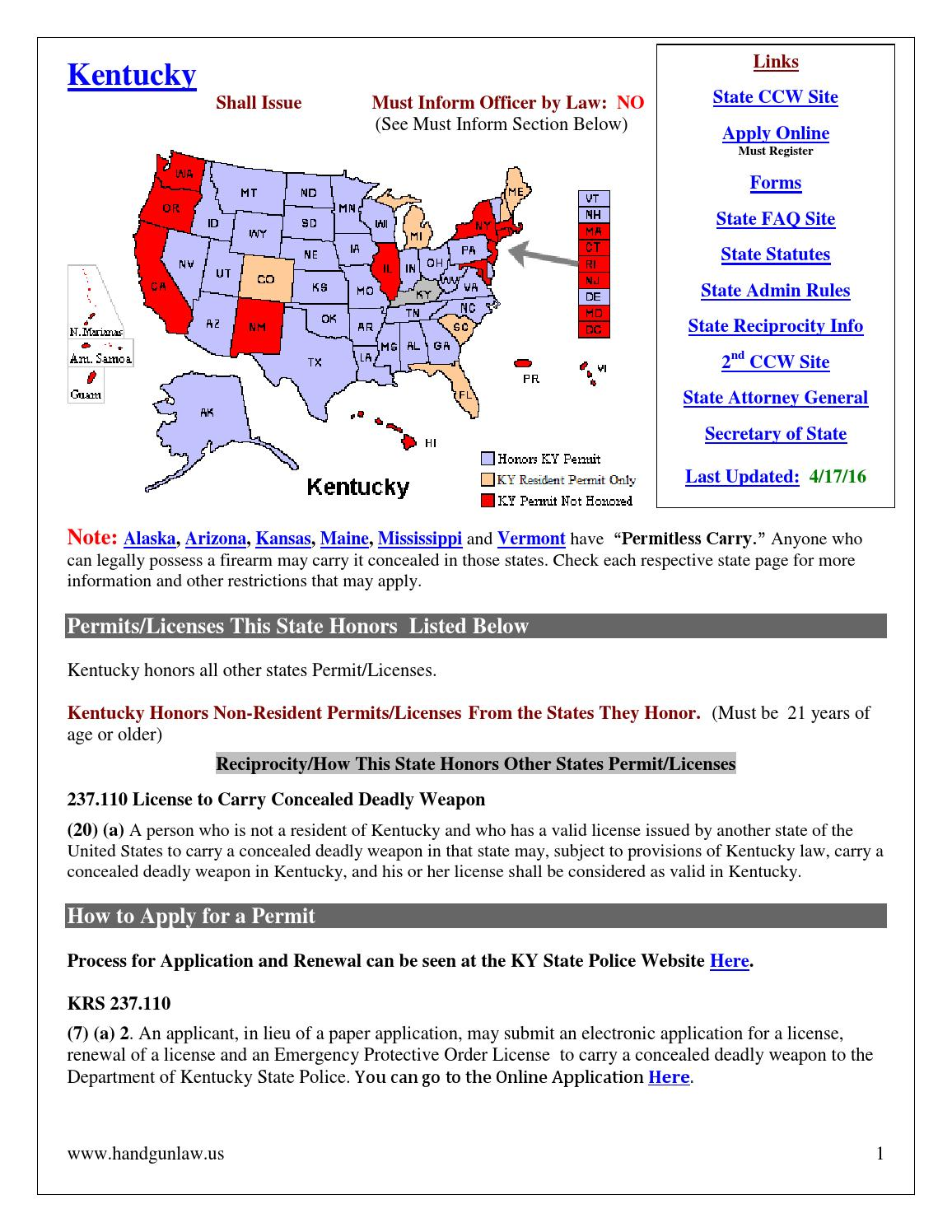 Kentucky gun laws by kelseynoel issuu aiddatafo Choice Image