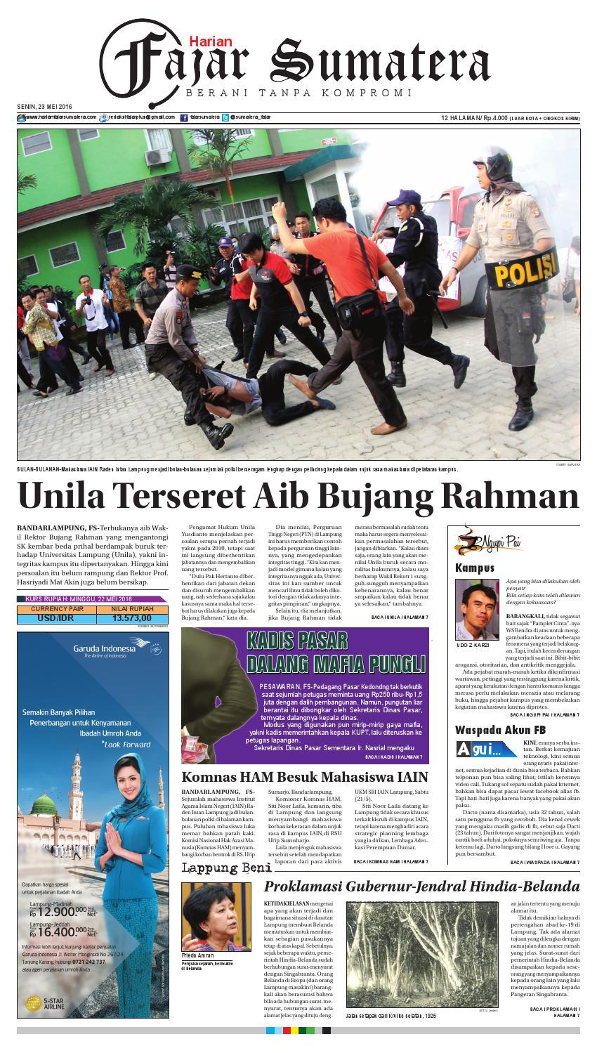 Fajar Sumatera L Senin 23 Mei 2016 By Issuu Produk Ukm Bumn Tekiro Tang Buaya 10