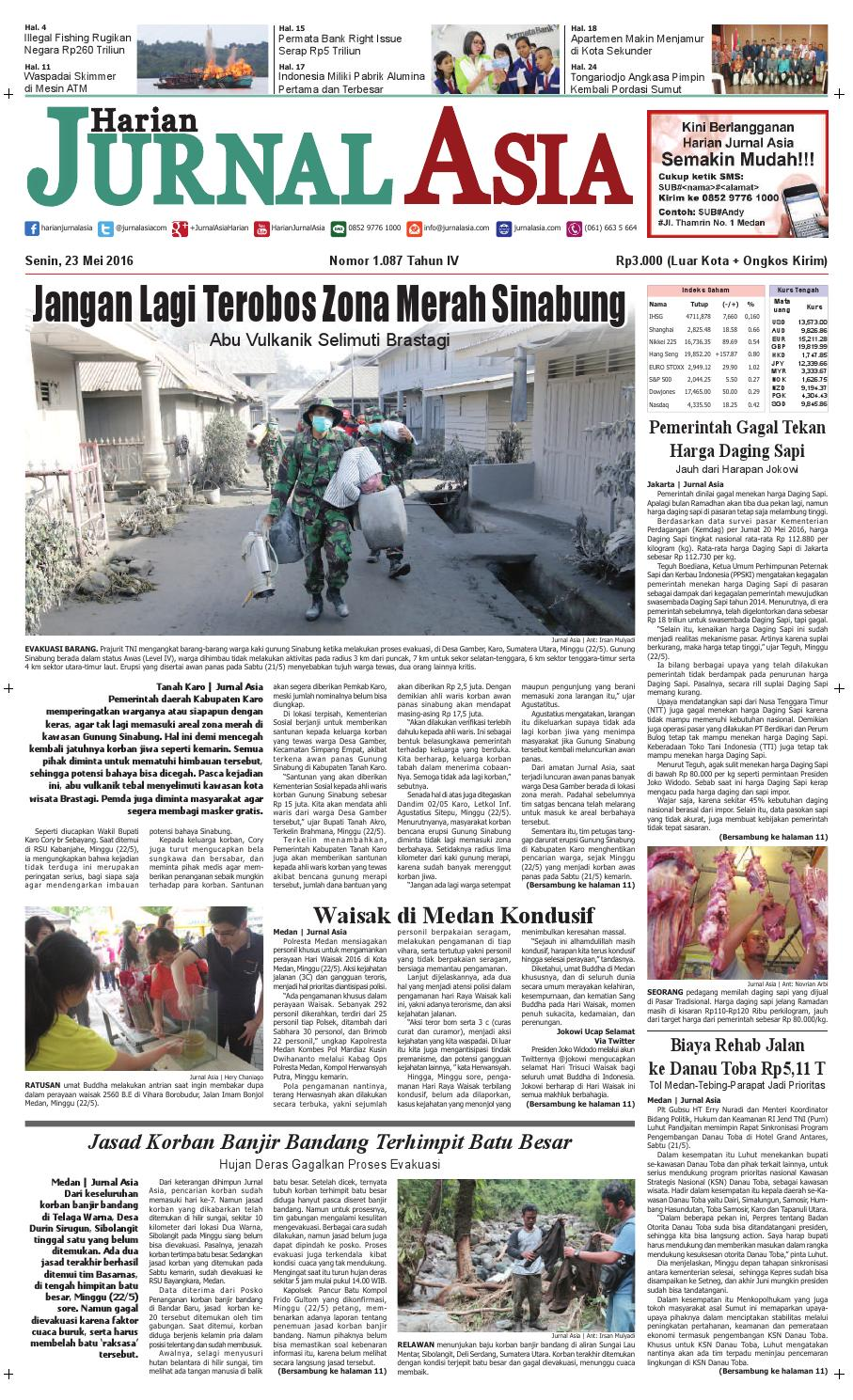 Harian Jurnal Asia Edisi Senin 23 Mei 2016 By Produk Ukm Bumn Kain Batik Eksklusif Lasem Manuk Medan Issuu