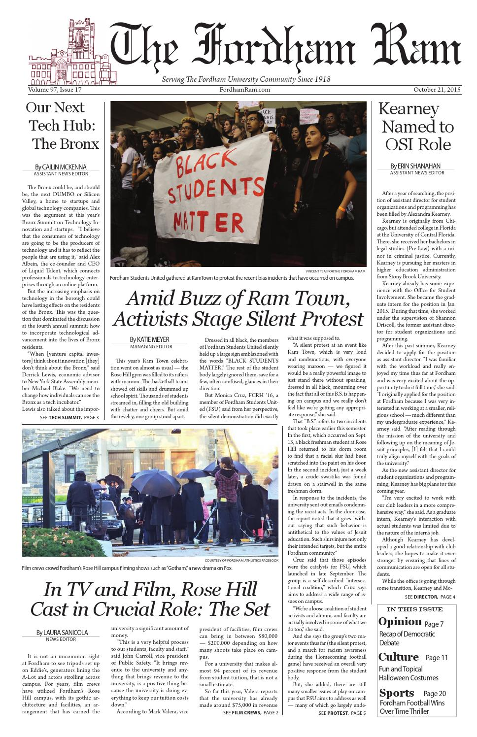 Volume 97 Issue 17 By The Fordham Ram Issuu