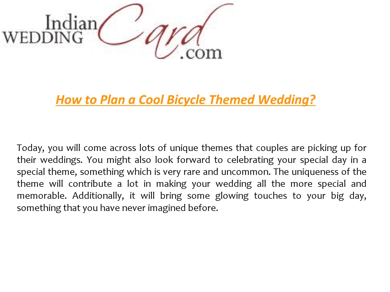 Bicycle themed wedding by Indian Wedding Card - issuu