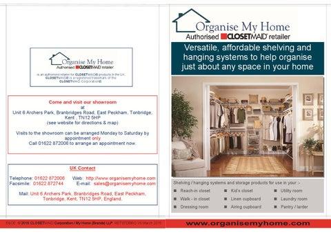 Organise My Home   Standard Layout Brochure 2015 2016