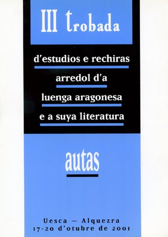 De By Provincial iii Huesca Actas Issuu trobada Diputación wqETfUX