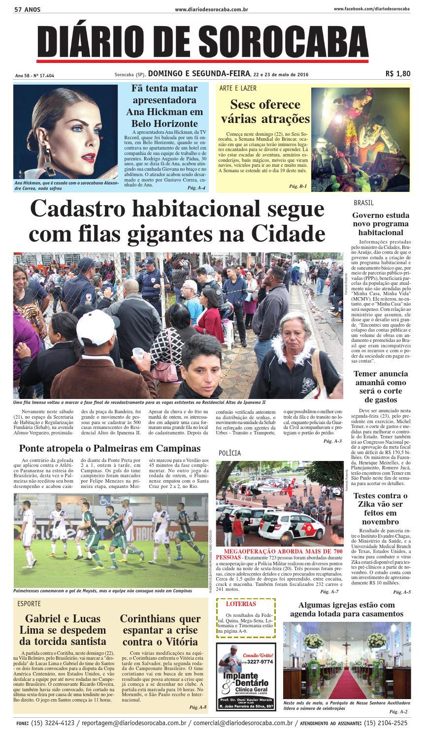 1ee430b6c Edição de 22 de maio de 2016 by DIÁRIO DE SOROCABA - issuu