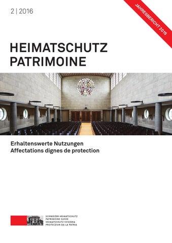 Heimatschutz Patrimoine 2 2016 By Schweizer