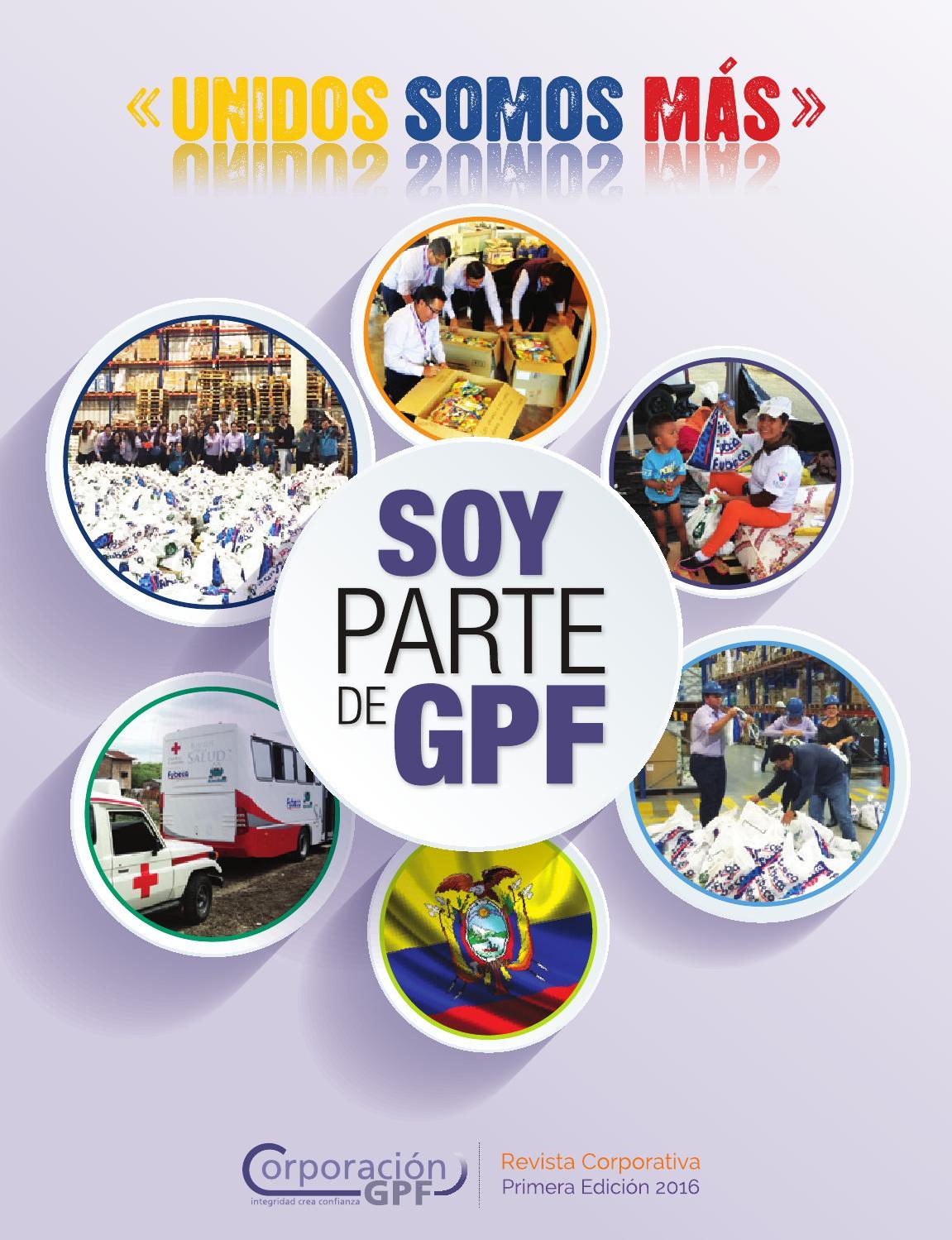 SOY PARTE DE GPF by Corporación GPF - issuu
