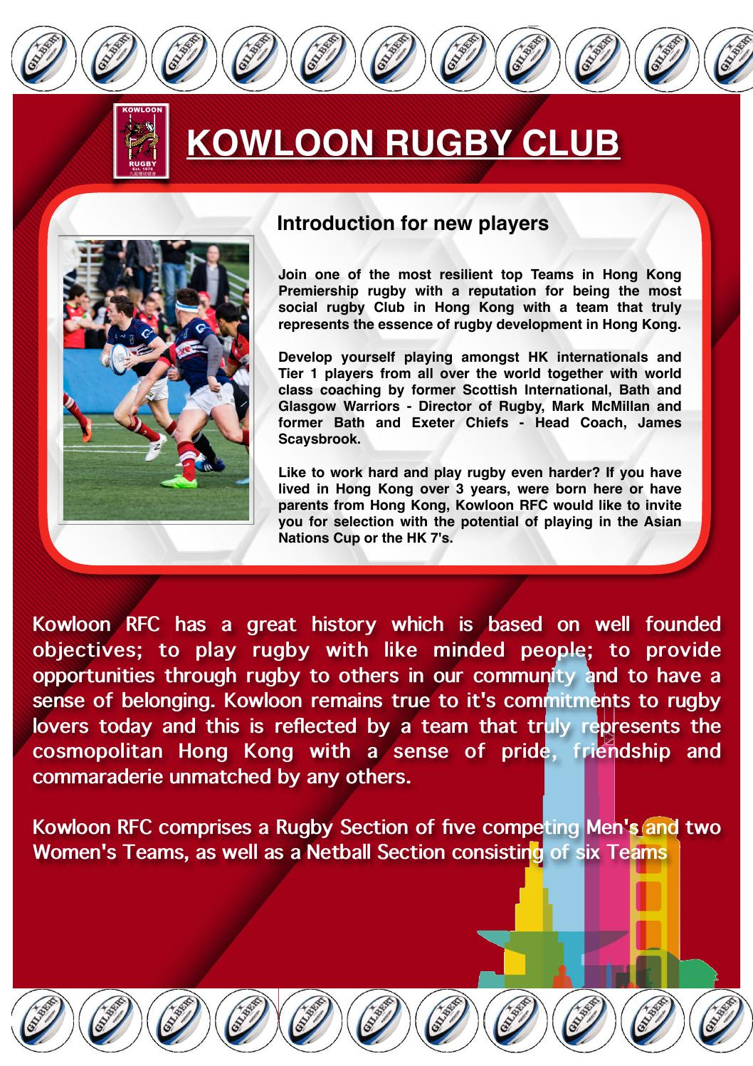 Play Rugby For Kowloon Rfc 2016 17 By Kowloon Rfc Issuu