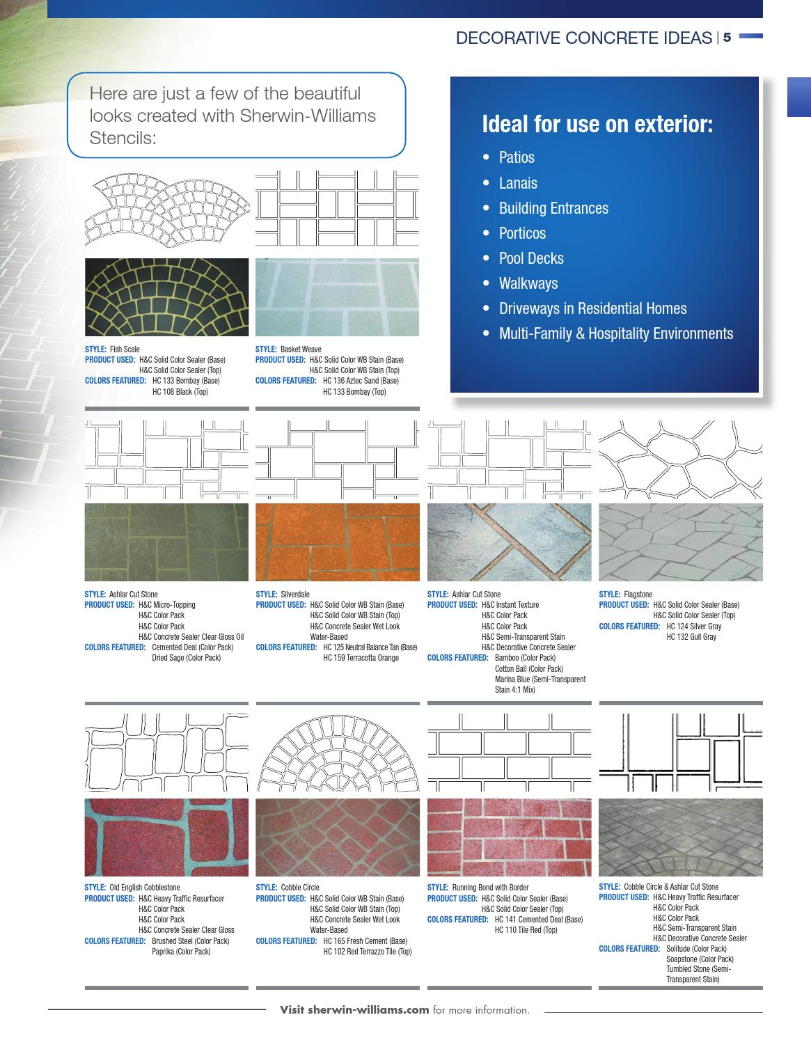 Sherwin Williams Concrete Catalog By