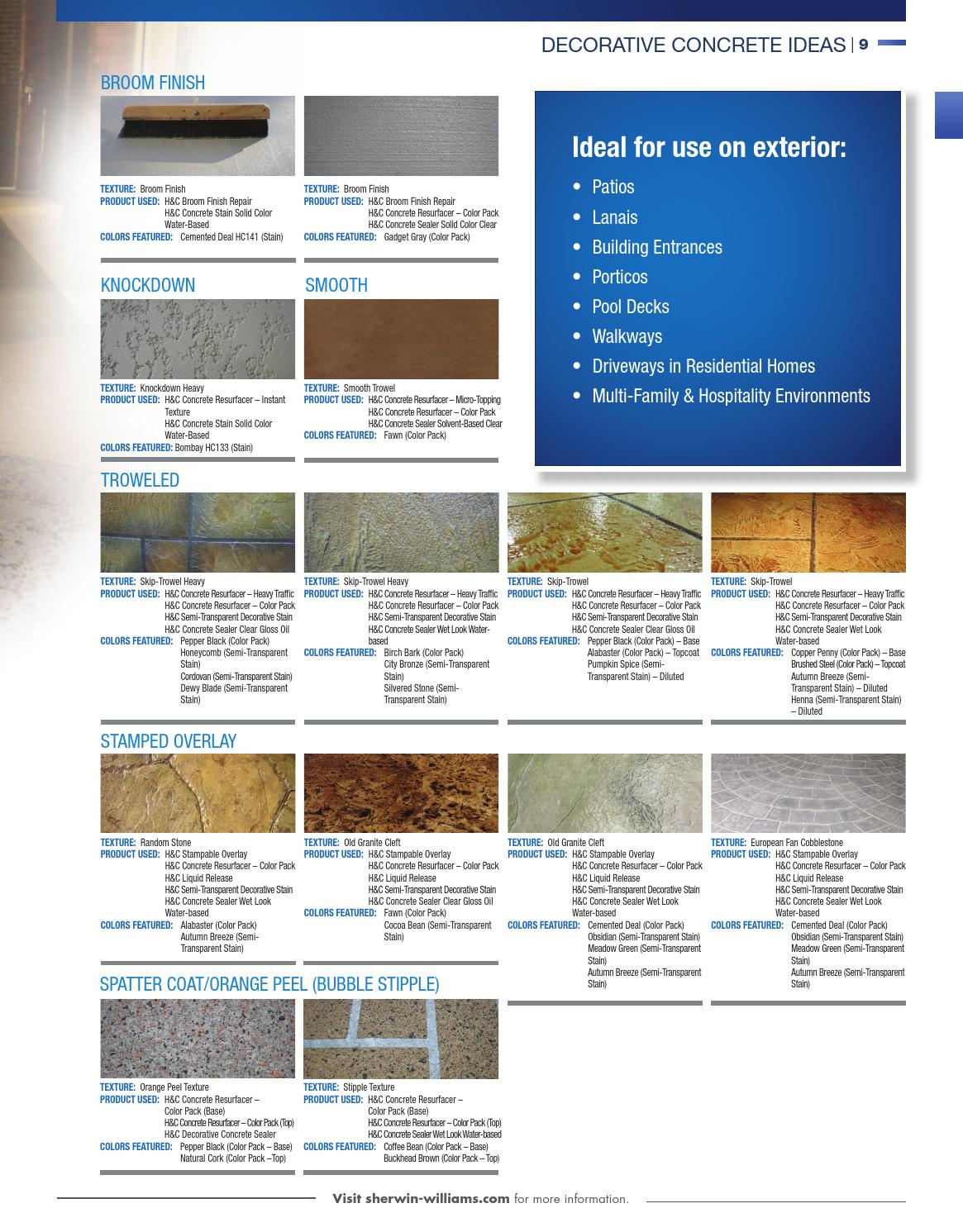Sherwin Williams Concrete Catalog By Sherwin Williams Issuu
