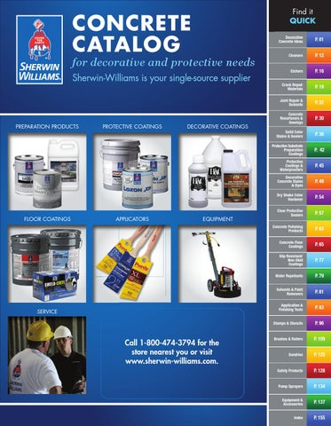 Sherwin-Williams Concrete Catalog by Sherwin-Williams - issuu