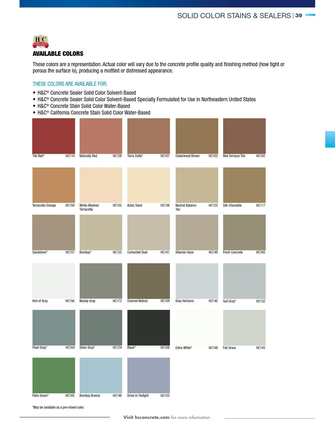 Sherwin Williams Concrete Catalog By Issuu