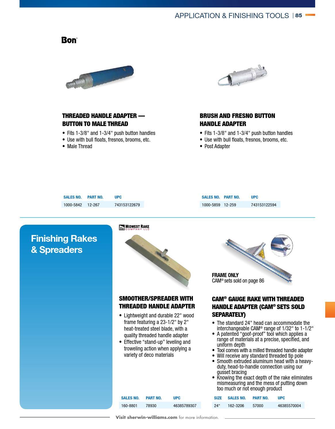 Bon 12-259 Aluminum Brush and Fresno Handle Adapter