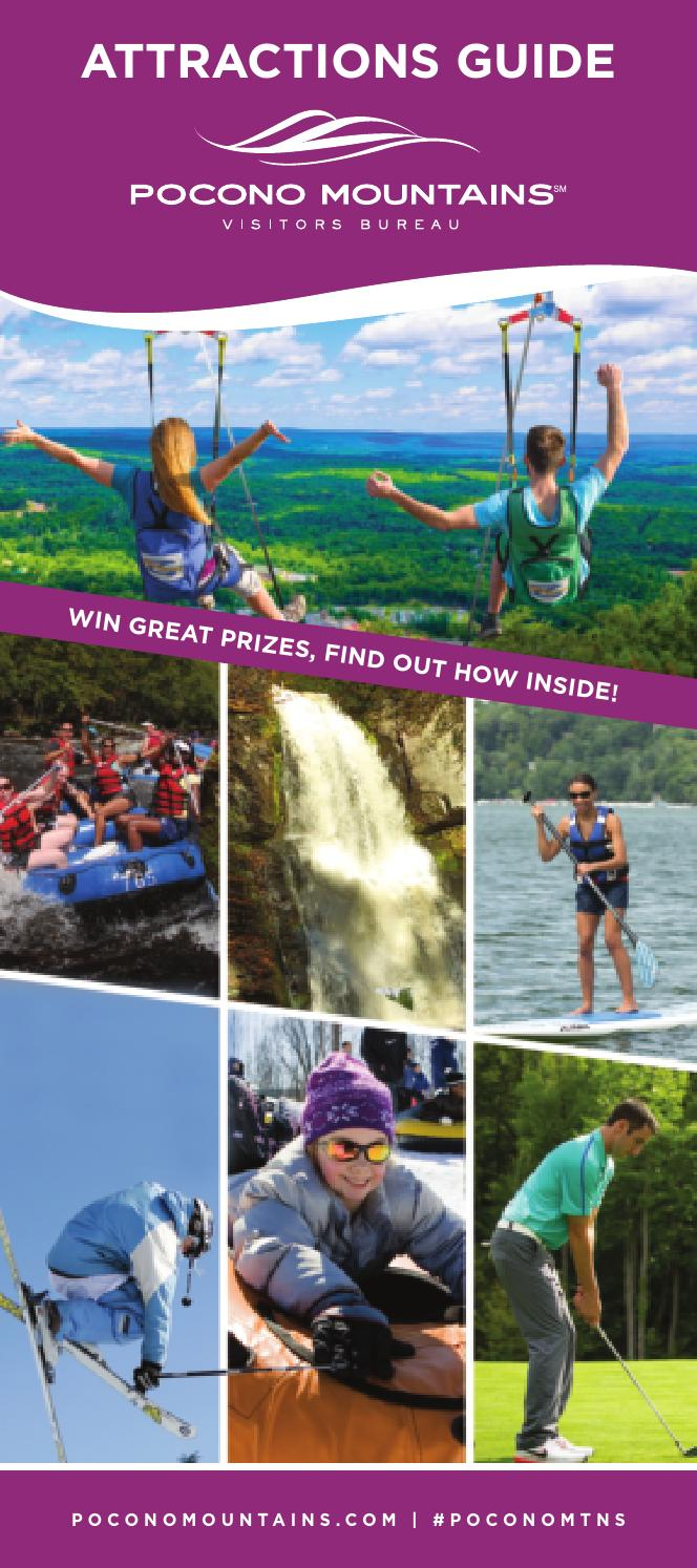 2016 Pocono Mountains Attractions Guide  Map by Pocono Mountains