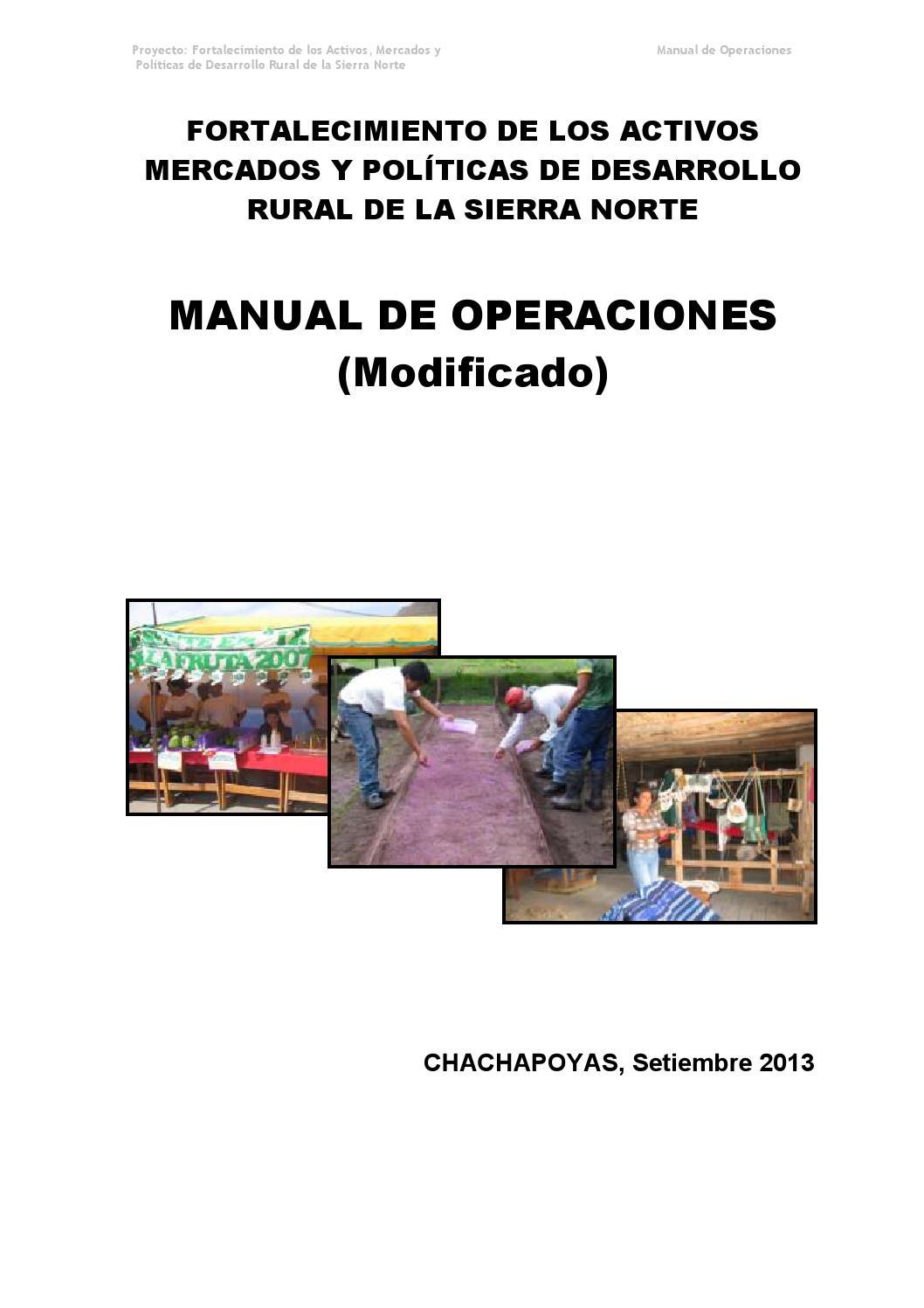 Manual de operaciones - NEC SIERRA NORTE by AGRORURAL - issuu