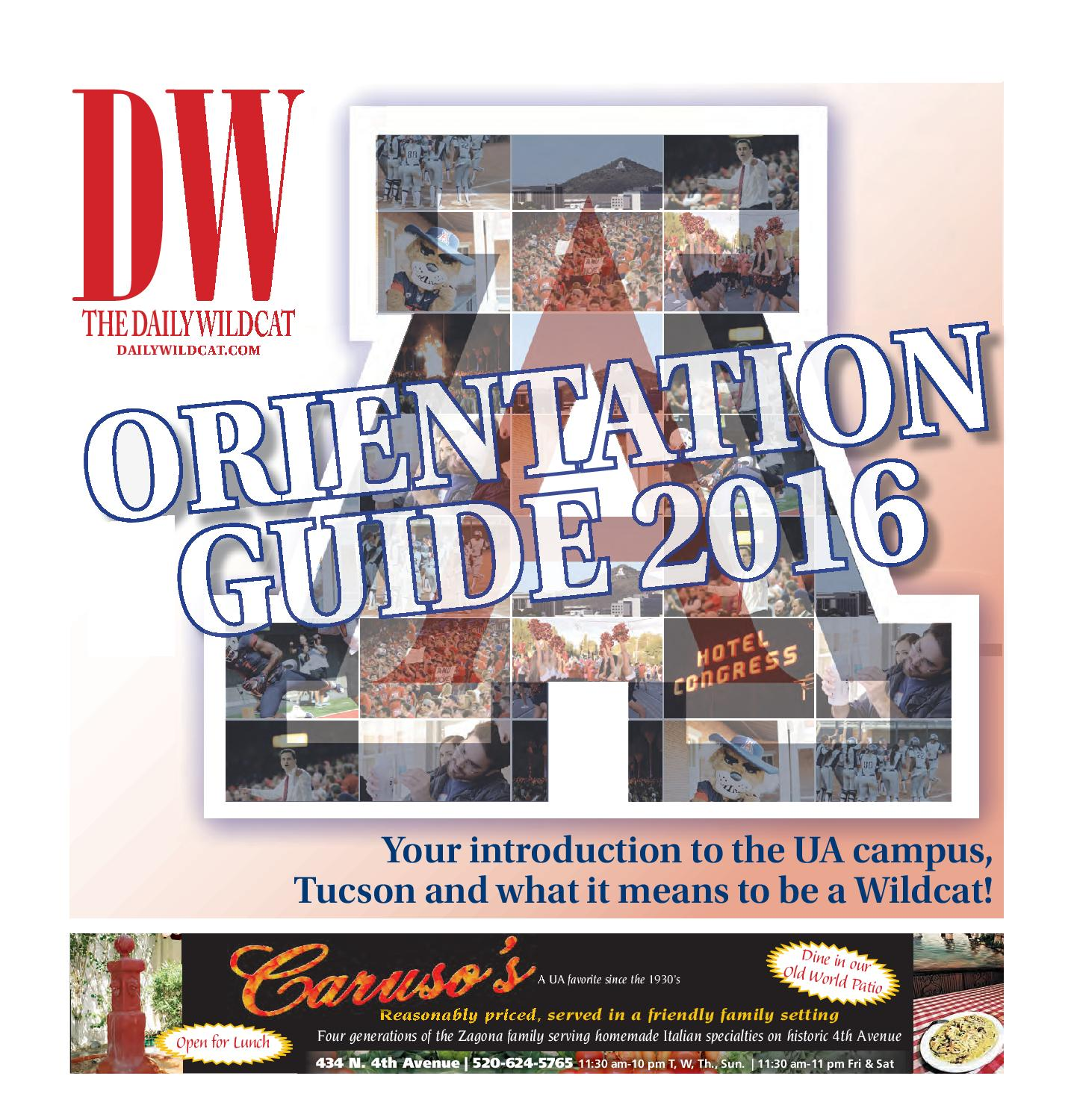 2016 Daily Wildcat 'Orientation Guide' by Arizona Daily