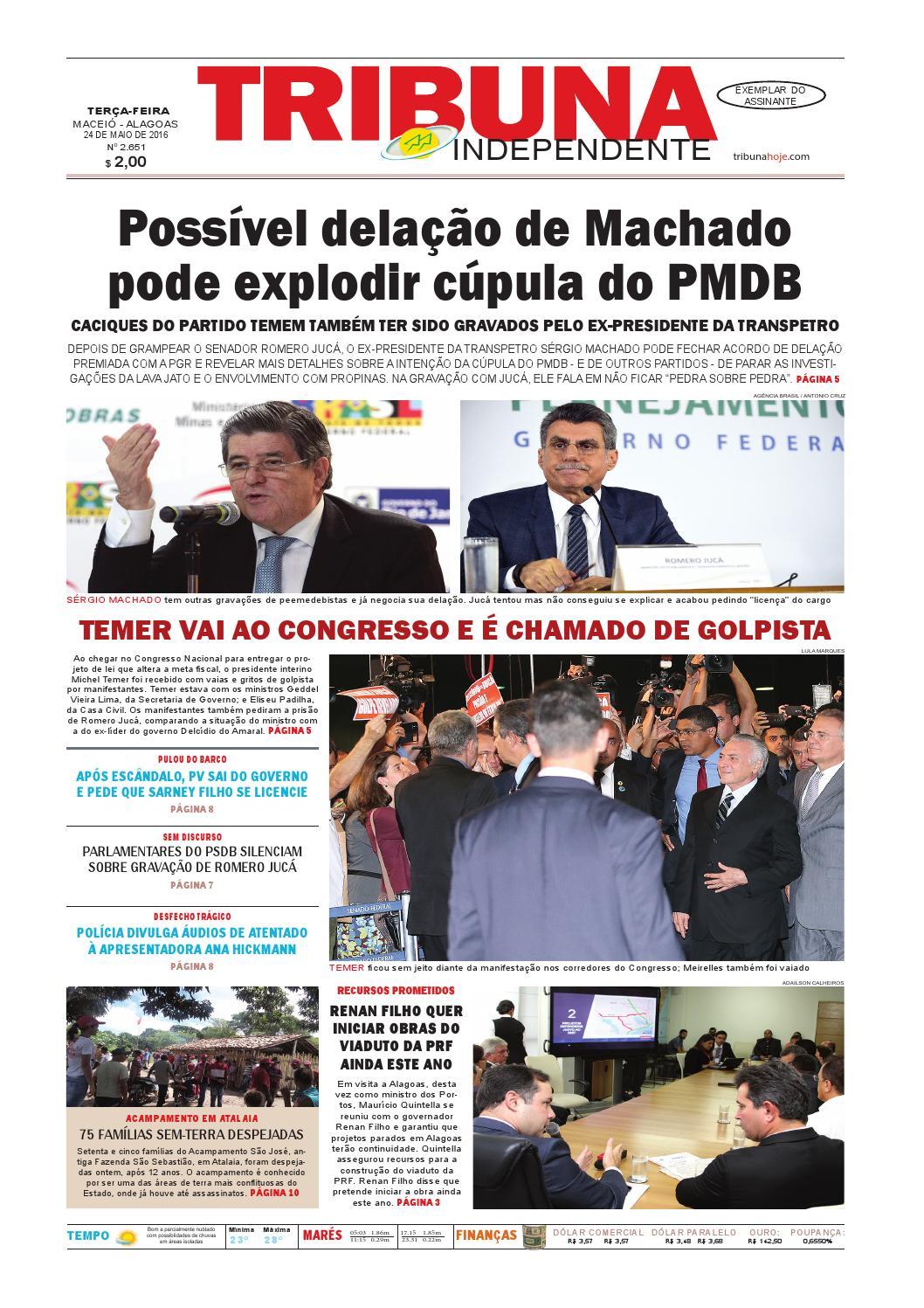 391d85674fc63 Edição número 2651 - 24 de maio de 2016 by Tribuna Hoje - issuu