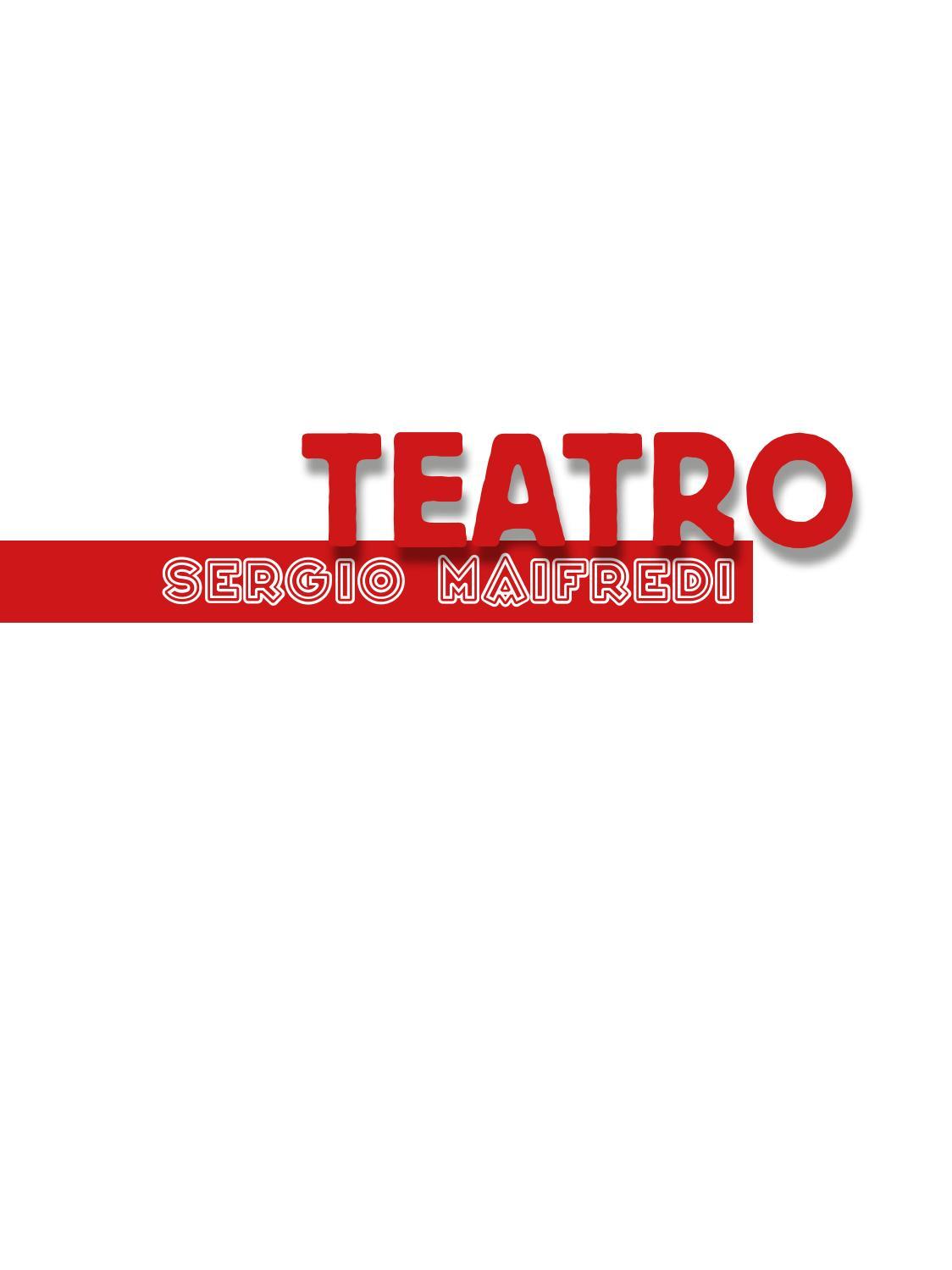 Teatro Sergio Maifredi By Sergiomaifredi Issuu