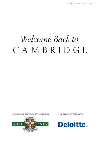 The Bicentenary Booklet | Cambridge Union by The Cambridge Union - issuu