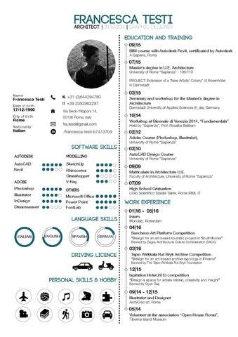 Francesca Testi Curriculum 2016 by Francesca Testi - issuu 76f78c0540