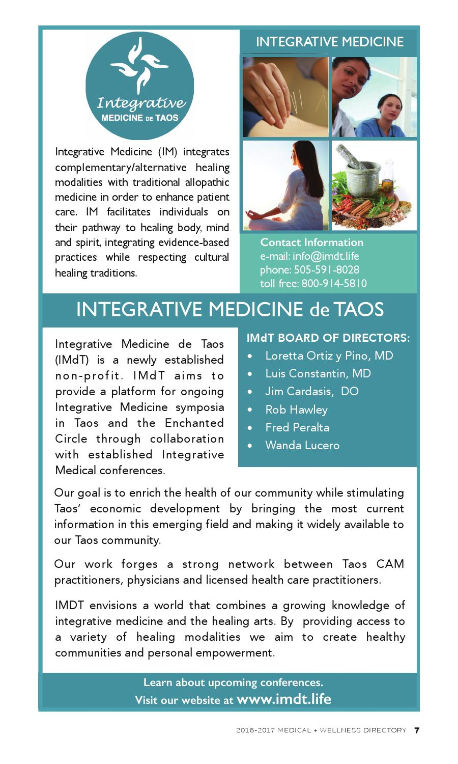 Medical and Wellness Directory 2016-2017 by The Taos News