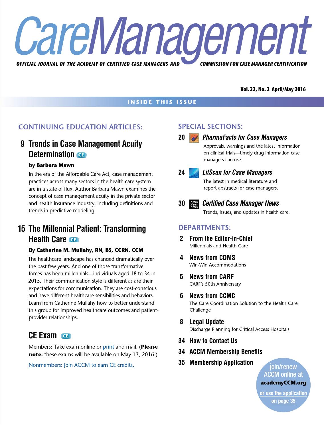 CareManagement April/May 2016 by CareManagement - issuu