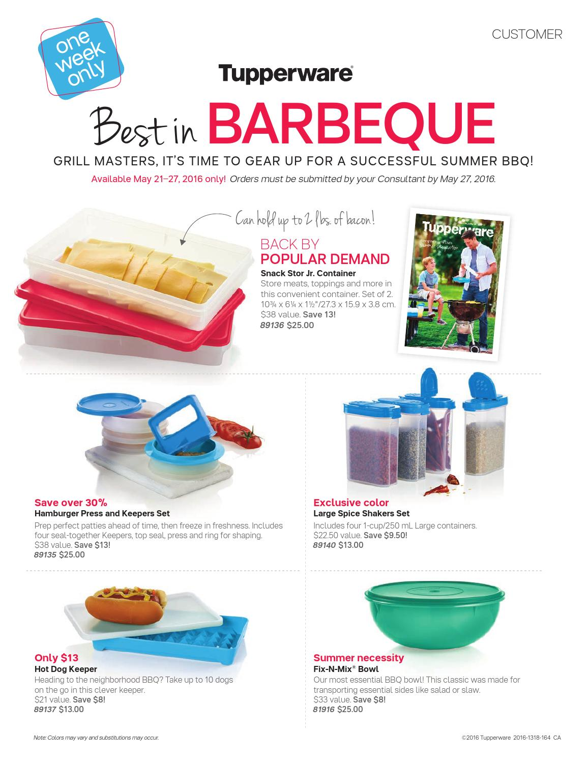 Tupperware BEST IN BBQ 2016 May By Claudee Galipeau