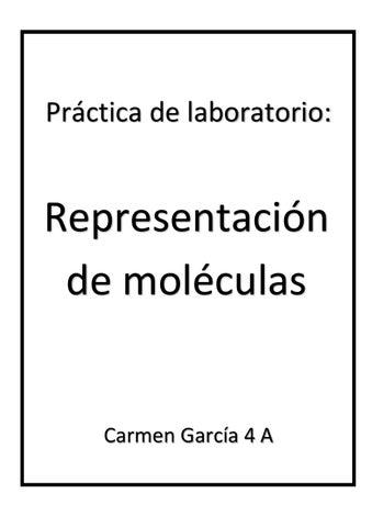 4 Práctica De Laboratorio Contruccion De Moleculas 2 Carmen García