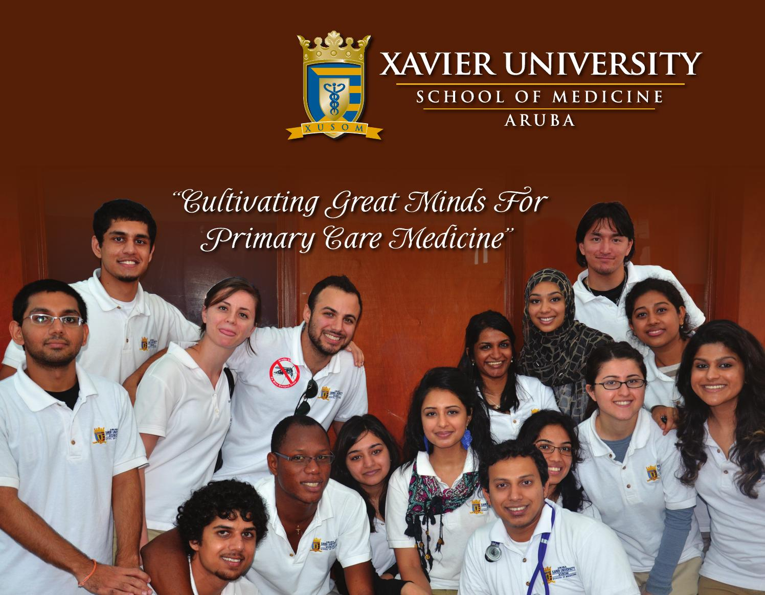ea56ee14e49 Acceptance package 2016 new by Xavier University School of Medicine - issuu