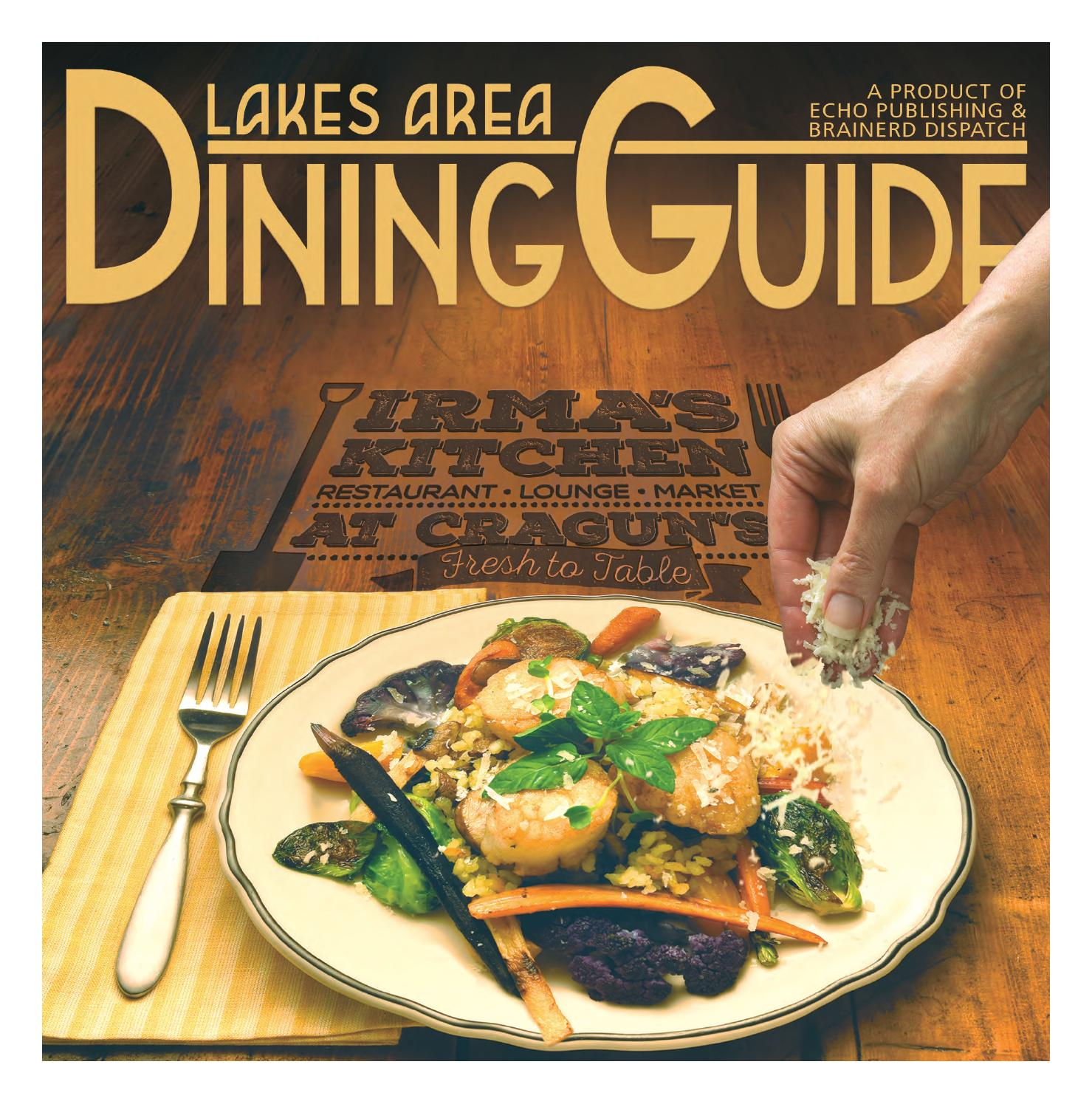 Lakes Area Dining Guide 2016 by Brainerd Dispatch   issuu of Forest Lake Restaurants Dining Guide
