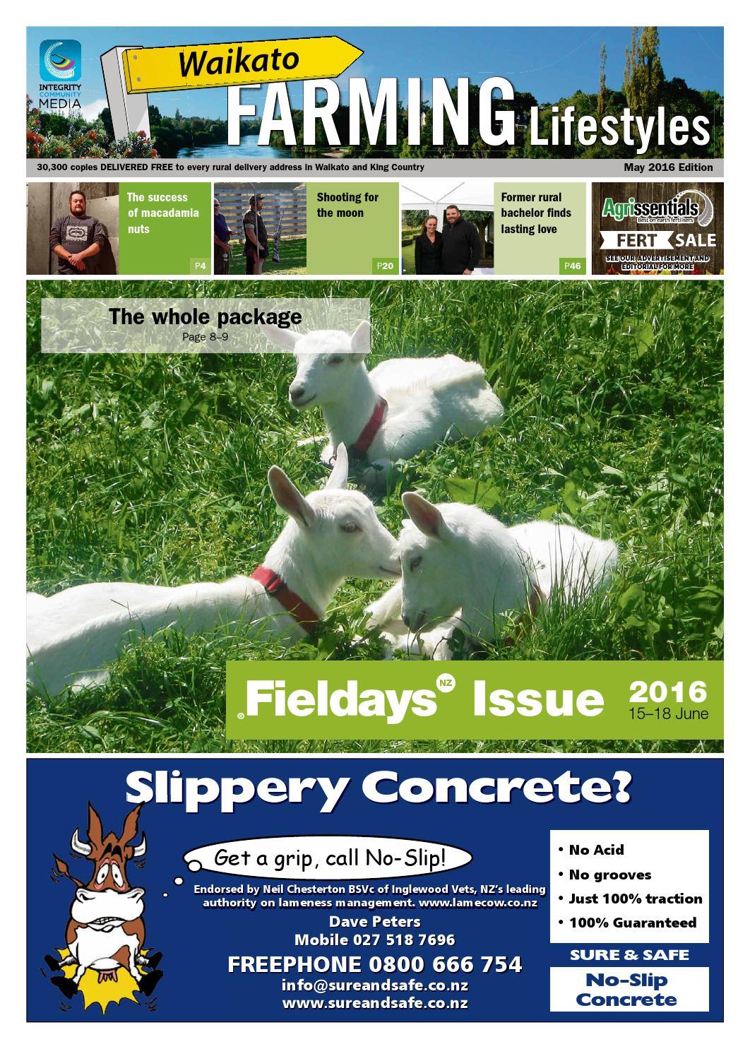 Waikato Farming Lifestyles, May 2016 by NorthSouth Multi Media Ltd - issuu