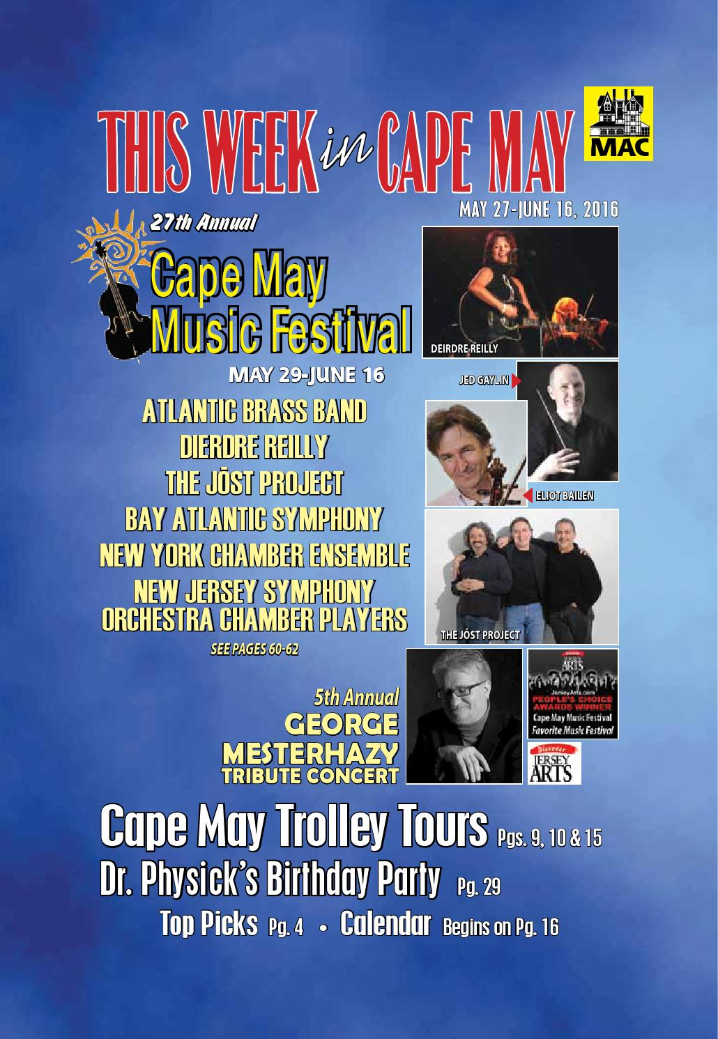 Calendar Cape May Nj : This week in cape may june i issuemay by