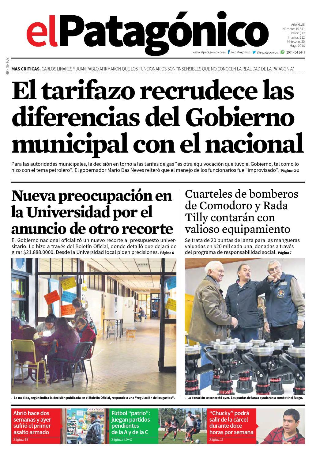 edicion232924052016.pdf by El Patagonico - issuu 76d2ebc9b544b
