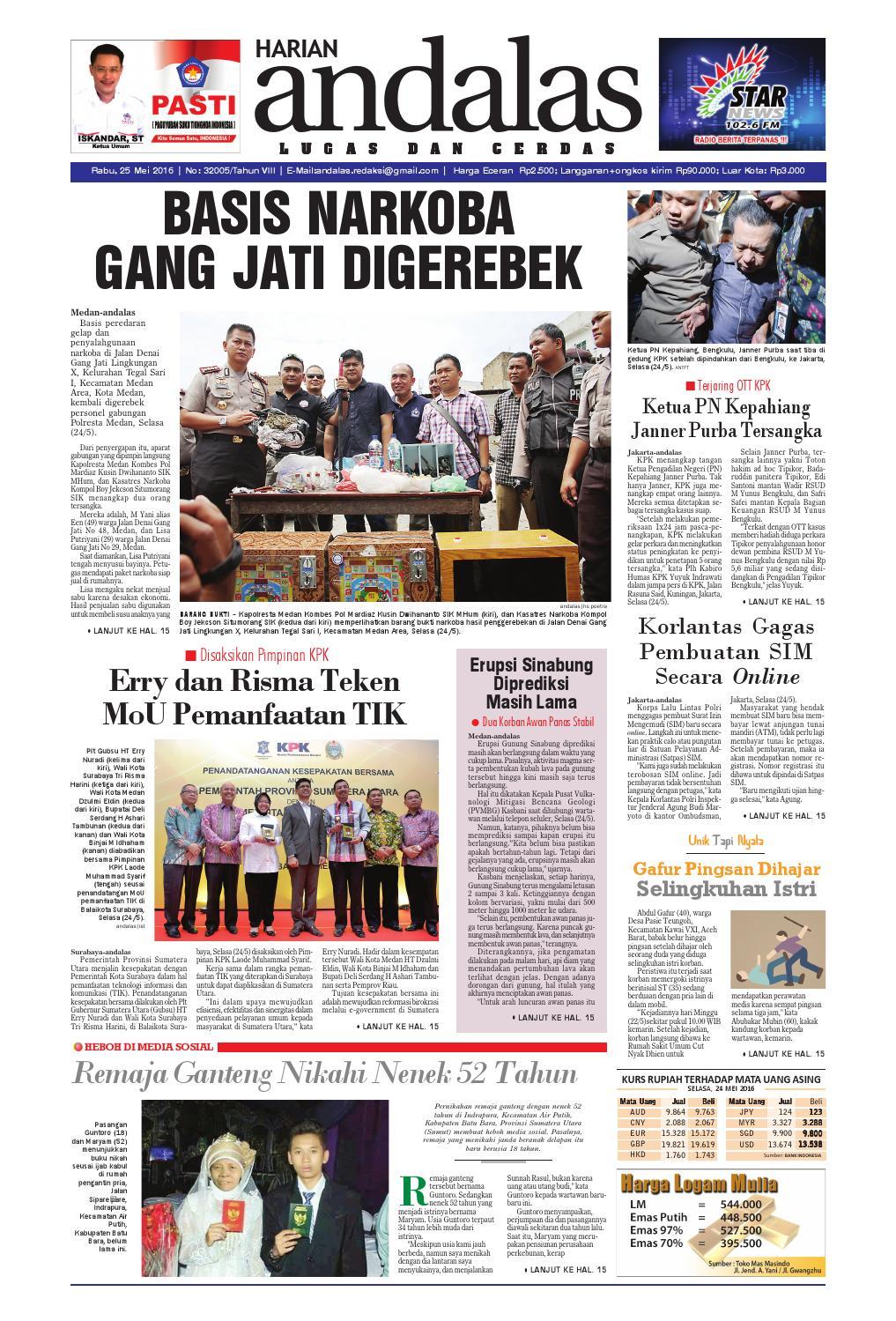 Epaper andalas edisi rabu 25 mei 2016 by media andalas - issuu e67c50b6df
