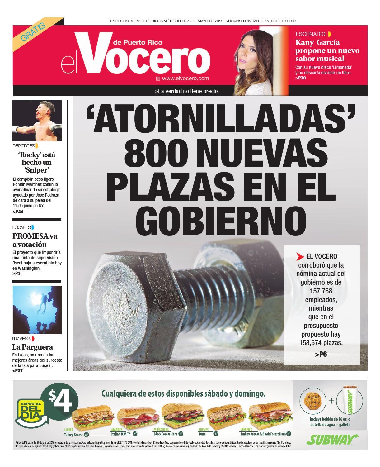 Edición 25 de Mayo 2016 by El Vocero de Puerto Rico - issuu aba2a233f
