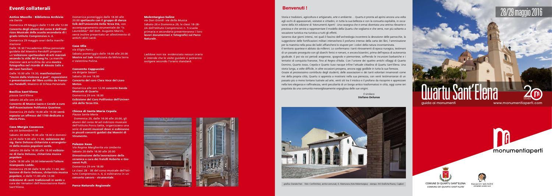 Quartu Monumenti Aperti S'elena 2016 By Issuu RA35L4jq