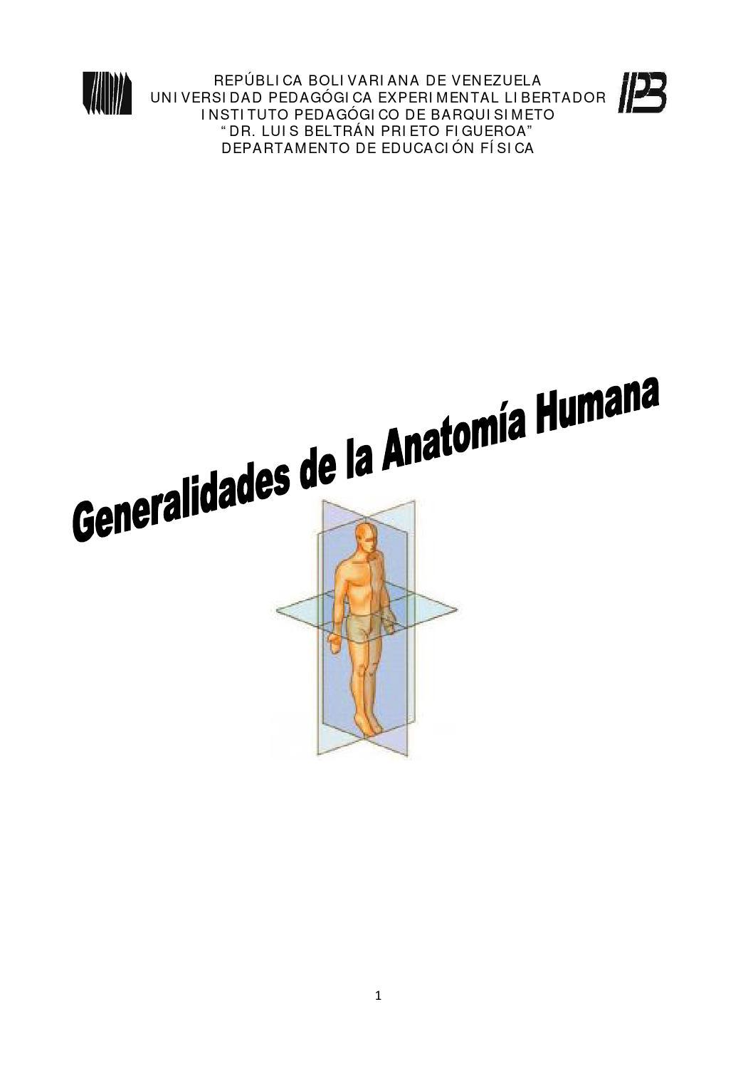 Generalidades de la anatomía humana by Mariel Castillo - issuu