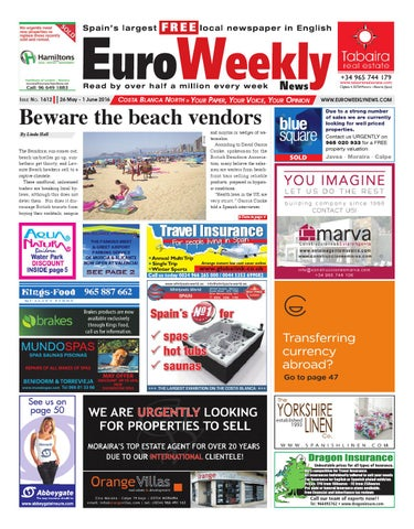 Euro Weekly News - Costa Blanca North 26 May - 1 June 2016 Issue 1612 fe26b8e87