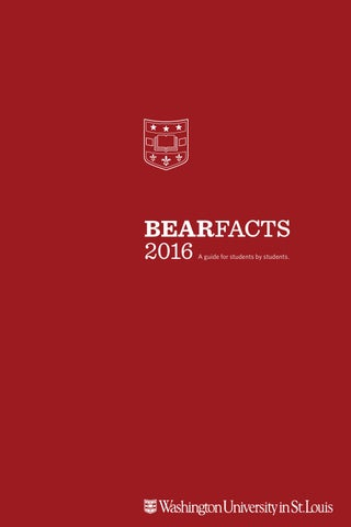 c4cdeca63a Bear Facts 2016 by WU First Year Center - issuu