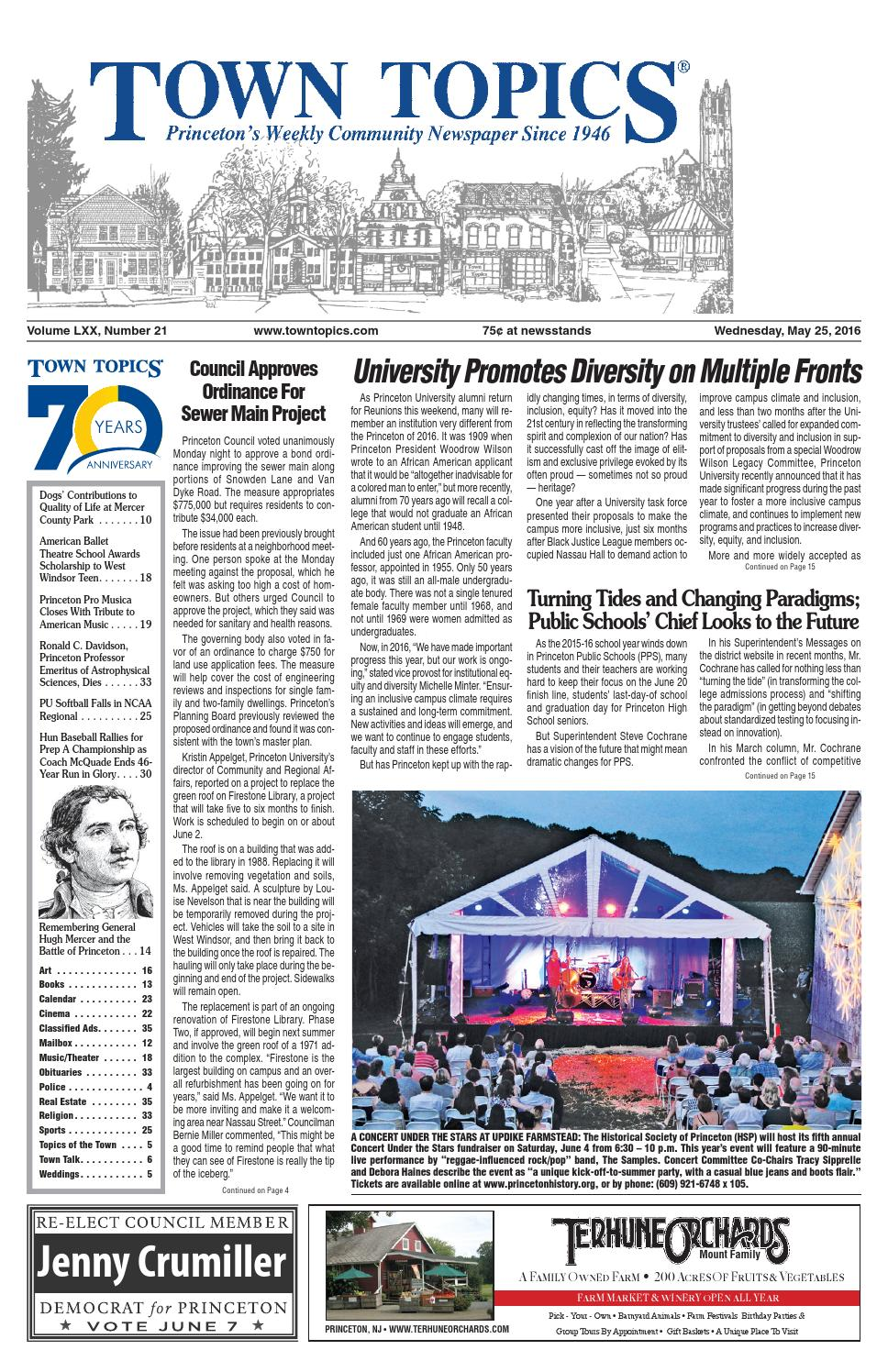 Town Topics Newspaper 5-25-16 by Witherspoon Media Group - issuu