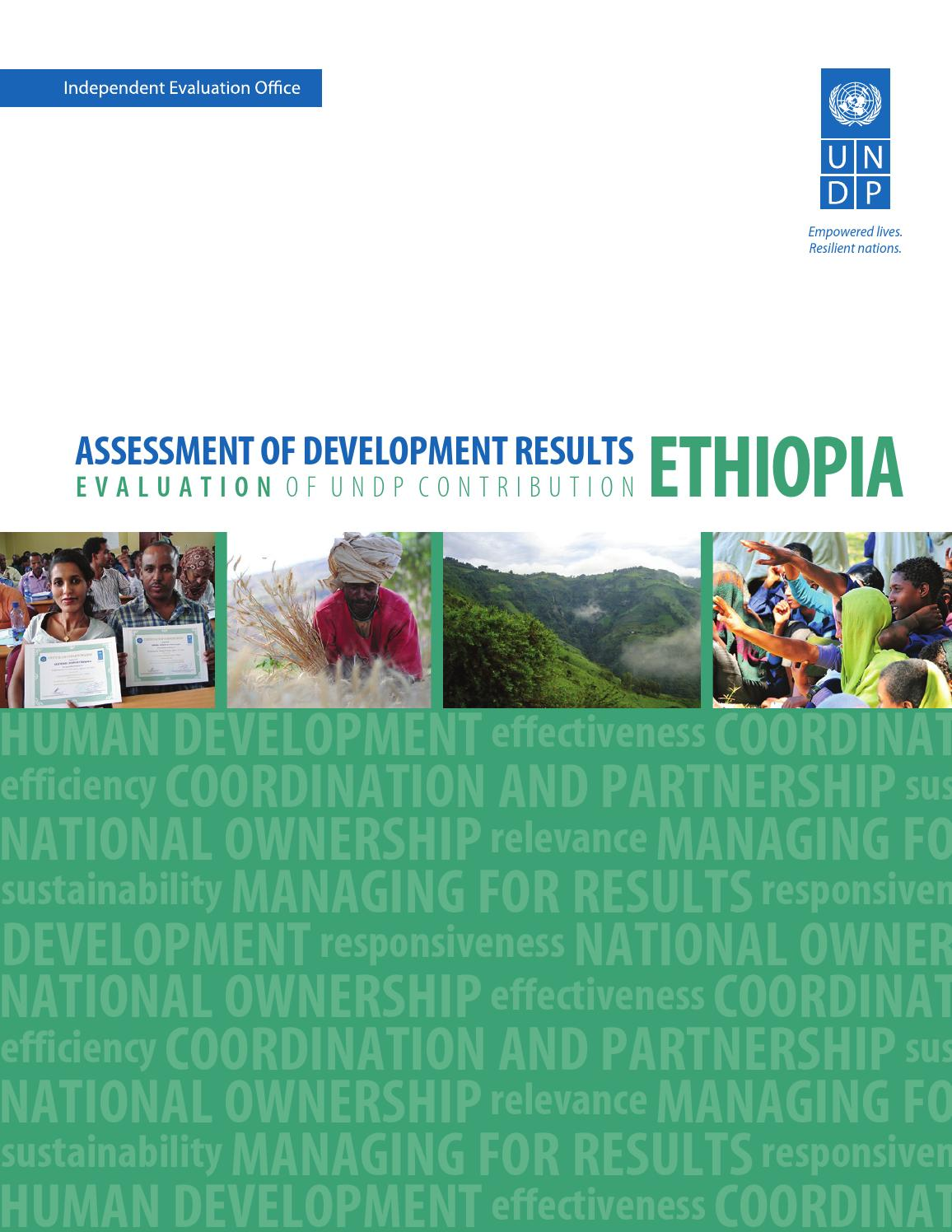 assessment of development results ethiopia by undp