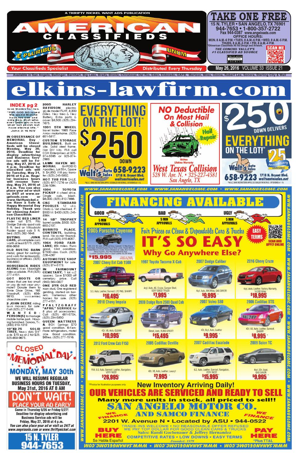 San Angelo American Classifieds By