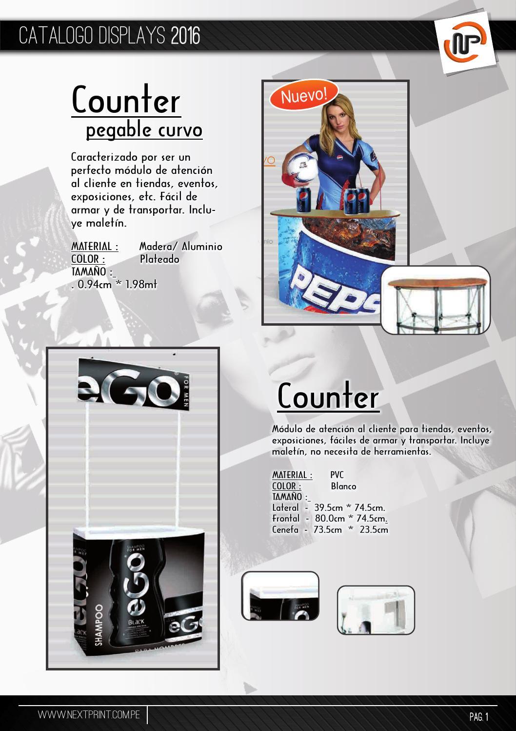 Catalogo Displays Np 2016 By Next Print Sac Issuu