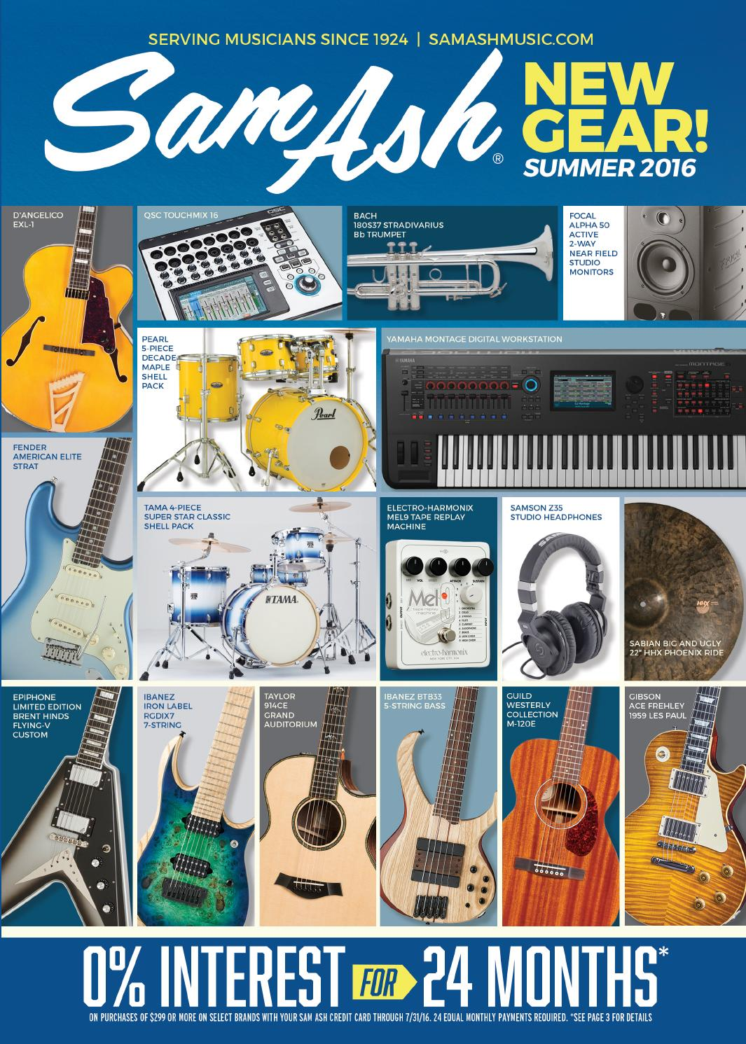 Summer 2016 Sam Ash GearGuide by Sam Ash Music Corp. - issuu