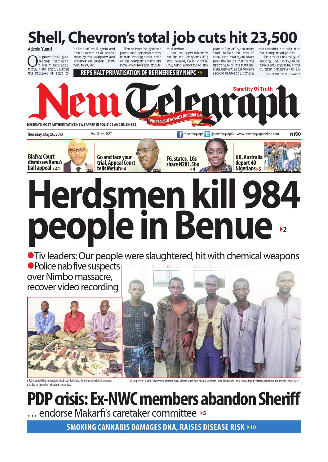 Thursday, may 26, 2016 binder1 by Newtelegraphonline - issuu