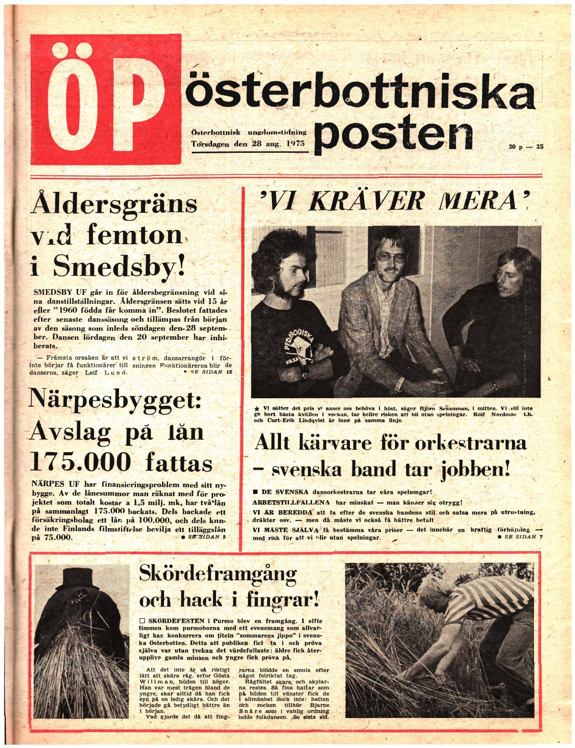 Österbottniska Posten (ÖP) nr. 35 1975 by Österbottniska Posten - issuu 49a9a7c991810