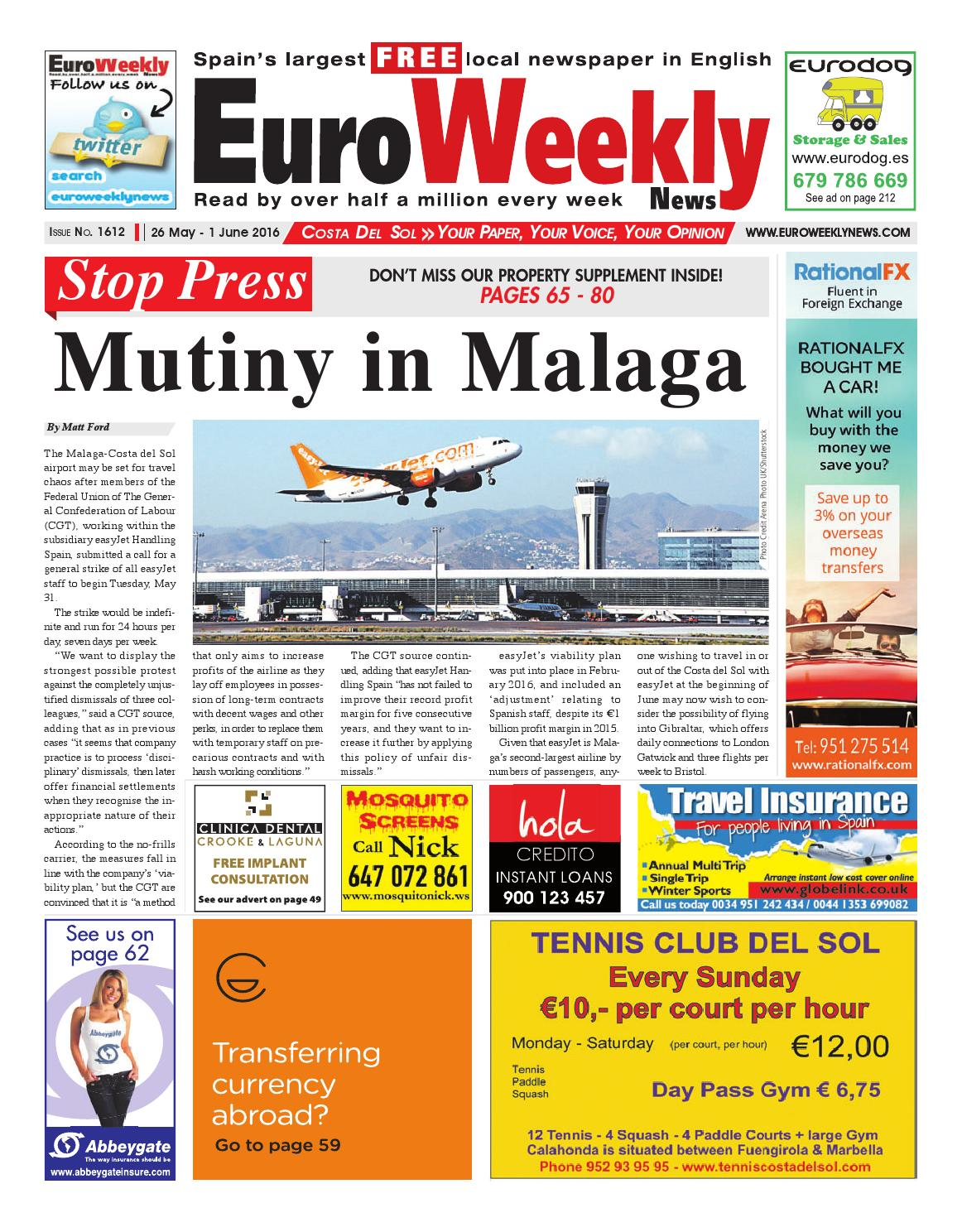 Euro weekly news costa del sol 26 may 1 june 2016 issue 1612 by euro weekly news costa del sol 26 may 1 june 2016 issue 1612 by euro weekly news media sa issuu fandeluxe Images