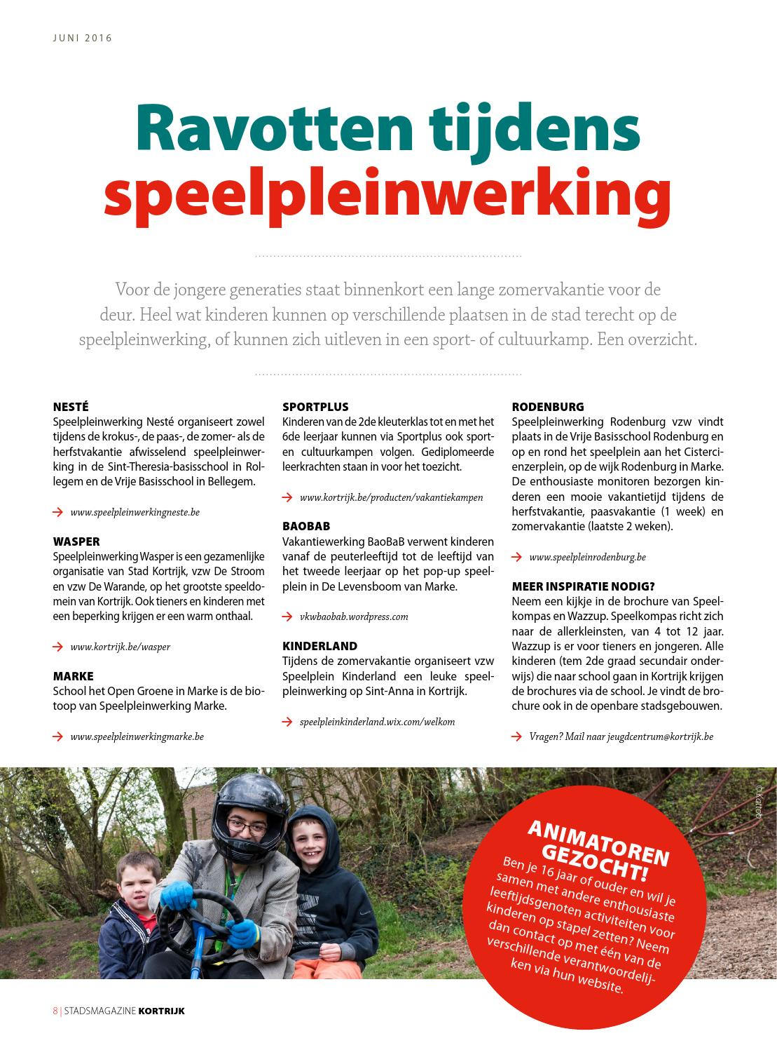 5bc51207e5f8da Stadsmagazine juni 2016 by stad Kortrijk - issuu