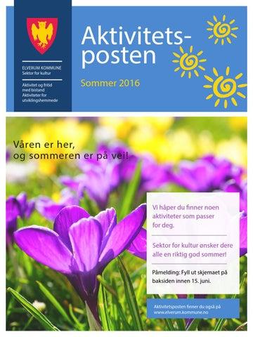 Aktivitetsposten For Utviklingshemmede Sommer 2016 By Elverum